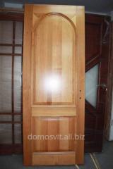 Межкомнатная дверь Д-77, дверь сосновая со стеклом