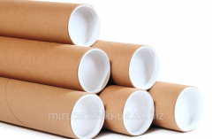 Packing for flowers: tubes are cardboard