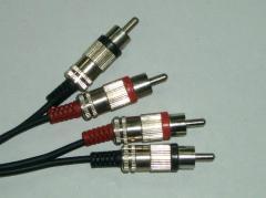 Кабели с разъёмами RCA для видеосигнала и...