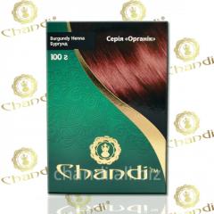 Краска для волос Chandi. Серия Органик. Бургунд,