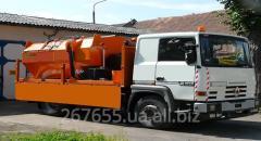 Thermos for transportation of asphalt mass of