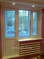 Windows from metal inserts, threw loplastikovy