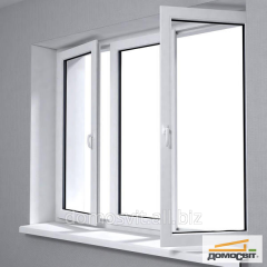 Windows of different types, sliding plastic