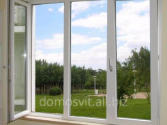The rotary and folding system of windows, plastic