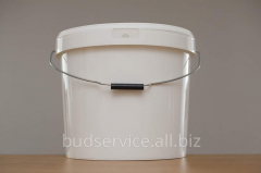 Bucket plastic 20 liters white