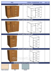 Furniture for offices, cases for documents from