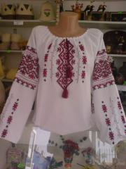 Blouse the embroidered female
