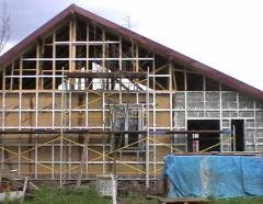 Warmings of the house with sound insulation,