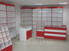 Show-windows and counters for shops