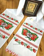 "The embroidered bench hammer ""Roses,"
