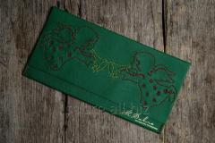 Кожаный конверт для денег с «Рождеством»