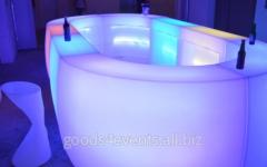 Bar counter of LED-Barstand-01 angular section