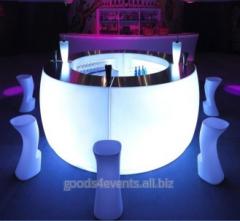 Bar counter of LED-Barstand-01 rectangular section