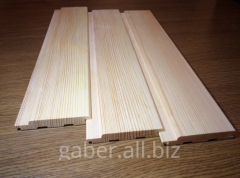Lining wooden pine, alder.