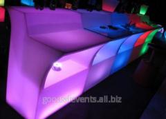 Bar counter of LED-Barstand-02 rectangular section