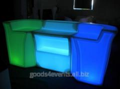 Bar counter of LED-Barstand-02 angular section