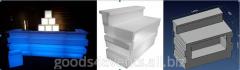 Bar counter of LED-Barstand-03 angular section