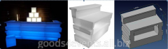 Bar counter of LED-Barstand-03 rectangular section