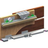 Раздвижная система для шкафов верхнего опирания