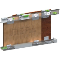 Sliding system for cases of the top opiraniye of