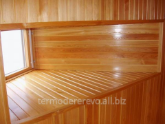Lining in a bath, timber for construction of