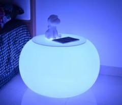 Coffee table of LED-table-01 round shape