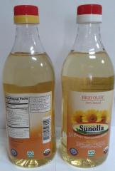 High oleic sunflower oil (unrefined and refined)