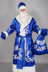 Костюм для взрослых Дед Мороз Синий