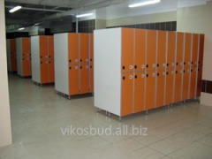 Шкафчики для гардеробов, раздевалок в помещениях