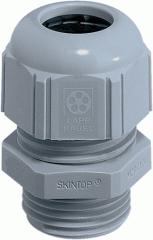 Ввод кабельный латунный никелированный метрический универсальный SKINTOP ST-M 16X1,5  RAL 7001 (LAPP Kabel) для быстрого монтажа и фиксации одним движением руки