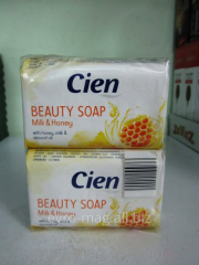 Toilet soap Cien with extract of milk and honey of