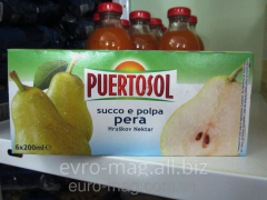 Juice pear with pulp of Puertosol succo e porpa