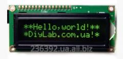 Simvolny LCD 1602 HD44780 display zelen_ symbol,