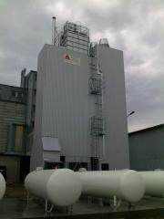 Grain dryers with recovery and a pyleochistka the