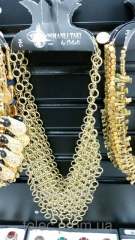 Necklace under gold