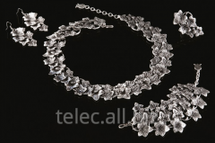 Set of costume jewelry of Ezfer