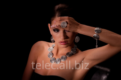 Set of costume jewelry of Hosni