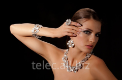Set of costume jewelry of Marshmallow