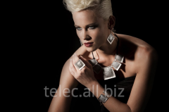 Set of costume jewelry of Saade