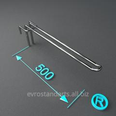Крючки торговые двойные 500 мм