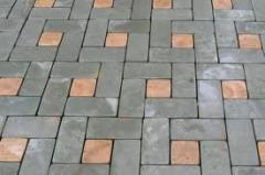 Stone blocks from sandstone