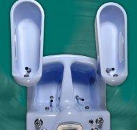 4-chamber ozono-galvanic bathtub