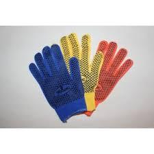 Перчатки синтетические с точкой ПВХ