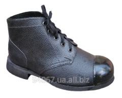 Ботинки с металлическим носком кож-кирза