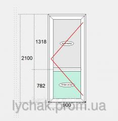 Door metaloplastikovy entrance Veka T 82
