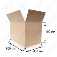 Gofroyashchik 600х400х400, brown. Cardboard boxes