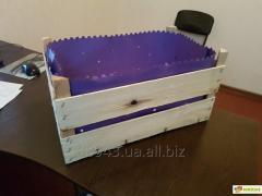 Ящики из шпона для упаковки яблок