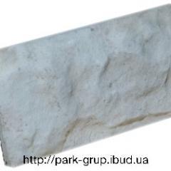 Front tile of 100х270 mm light gray