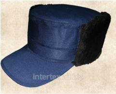 Уборы головные мужские кепки утепленные