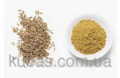Caraway seeds ground weigh
